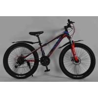 Велосипед PULSE MD230 полу FAT черно/голубой/красный