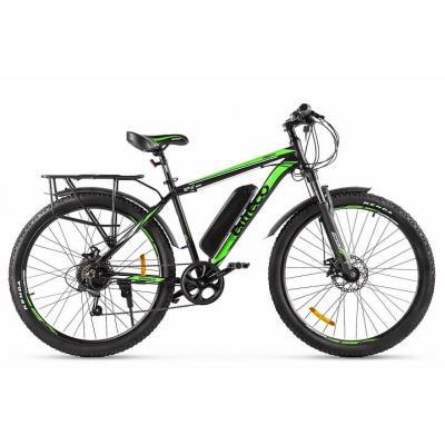 Велогибрид Eltreco ХТ800 new черно-зеленый-2138