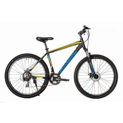 Велосипед HARTMAN Hurrikan Disk 19 21ск. алюм, черно-желтый мат