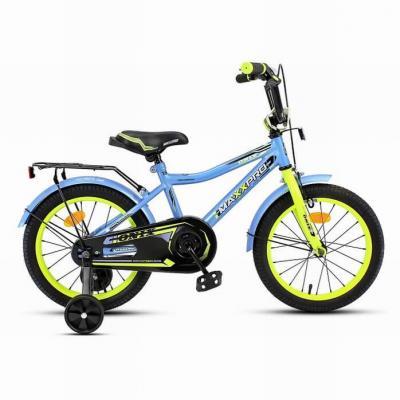 Велосипед MaxxPro ONIX-М16-4 голубо-салатовый