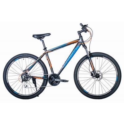 Велосипед HARTMAN Hurrikan NEXT HIDRO Disk 19 24ск. алюм, черный сине-оранж
